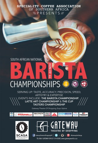 South African National Barista Champions 19 – 22 Nov
