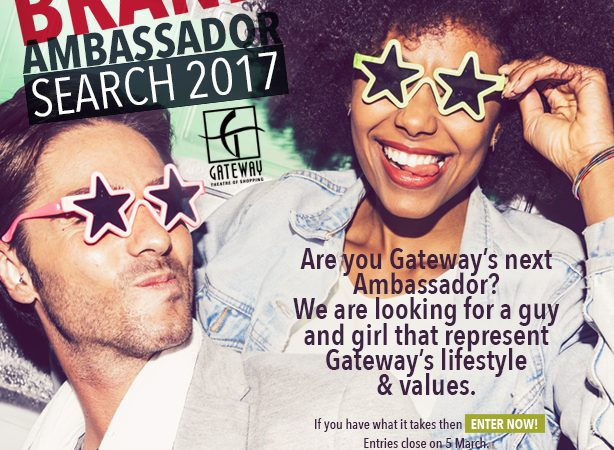 THE SEARCH FOR GATEWAY'S 2017 AMBASSADORS IS ON…