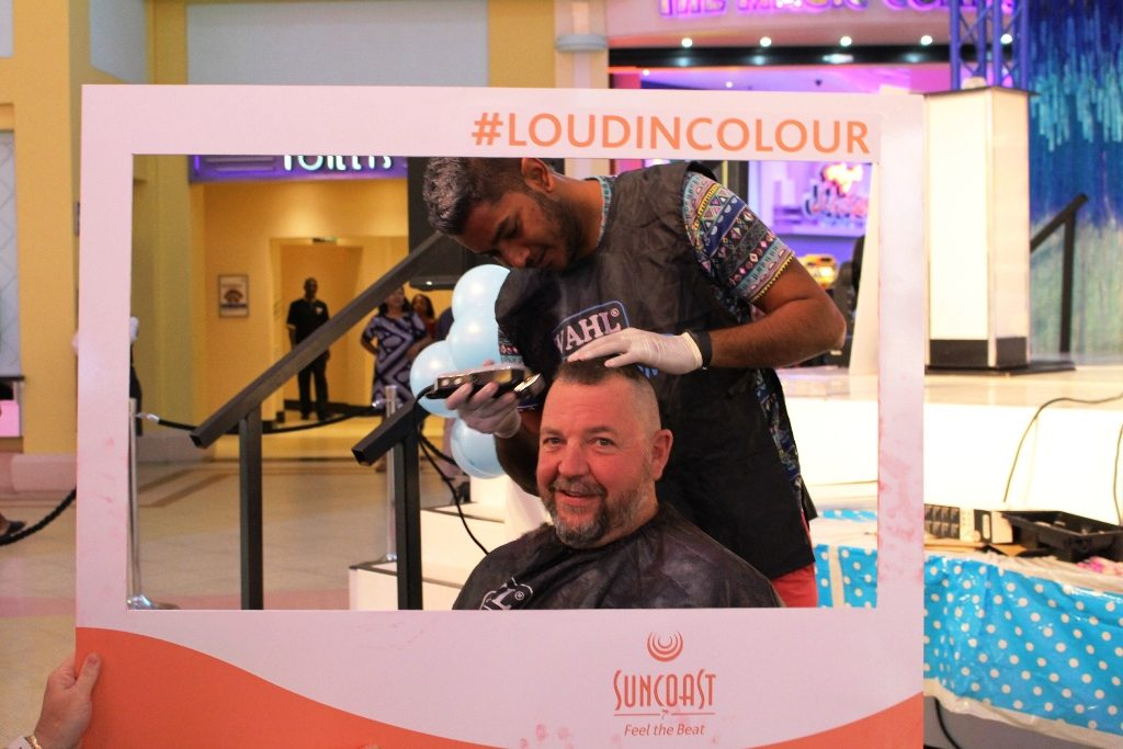 Arthur Collett at the CANSA Shavathon which took place at Suncoast Casino, Hotels & Entertainment over the weekend