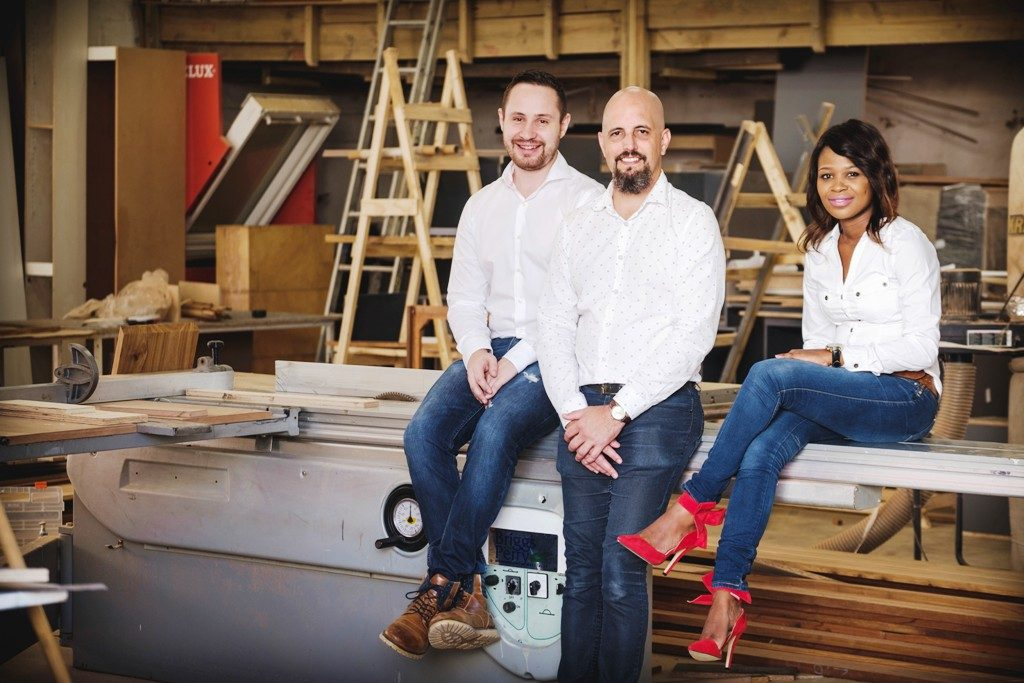 though leaders from Uber Haus, Kyle du Preez, Scott Campbell, and Amanda Ndlangisa prepare their fully automated home for this year's show.