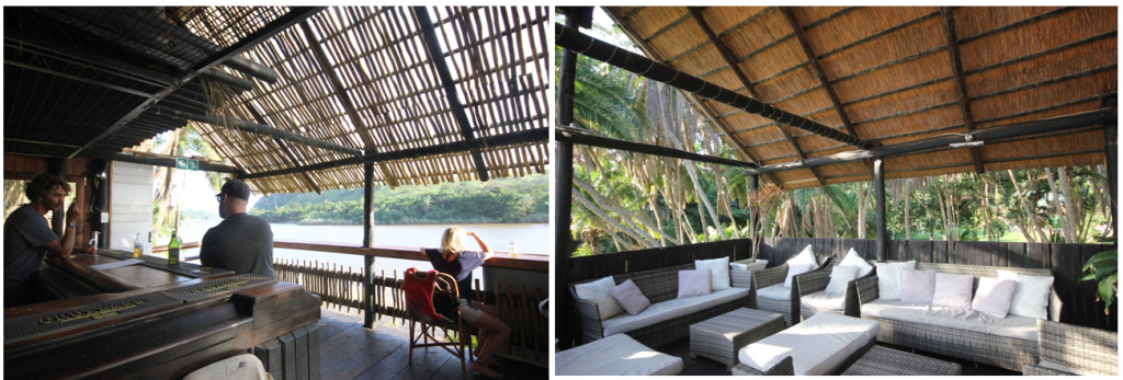 Umtamvuna River Lodge: Bar on the Riverbank