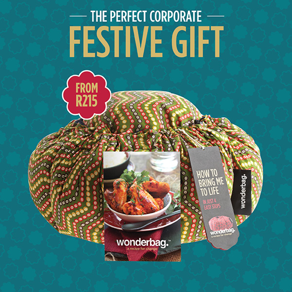Corporate Gifting (i.e. including a Wonderbag plus a recipe book) – from R215
