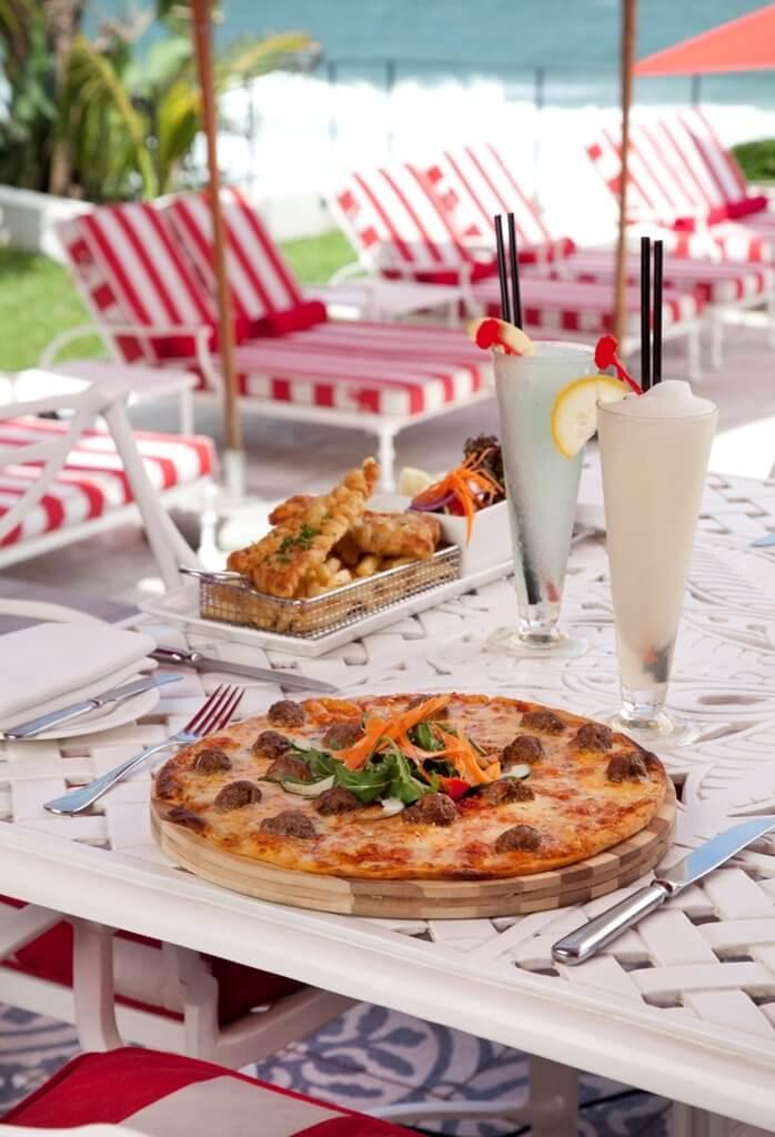 Pizza with Slush Puppie - Oyster Box Hotel