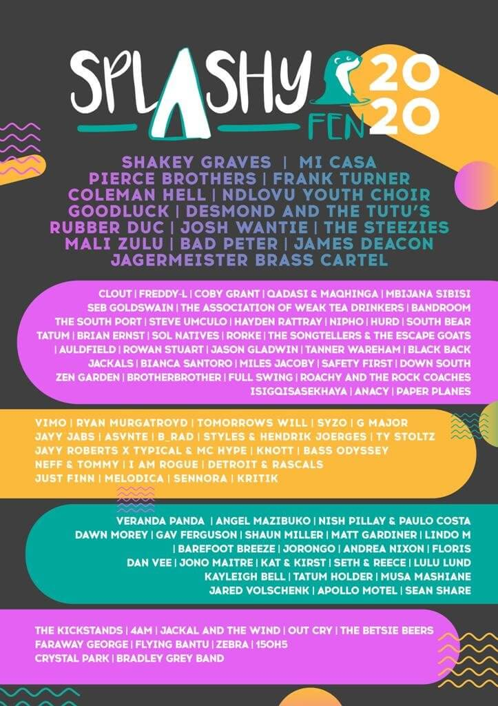 ANOTHER EPIC LINE-UP FOR THE 2020 SPLASHY FEN MUSIC FESTIVAL
