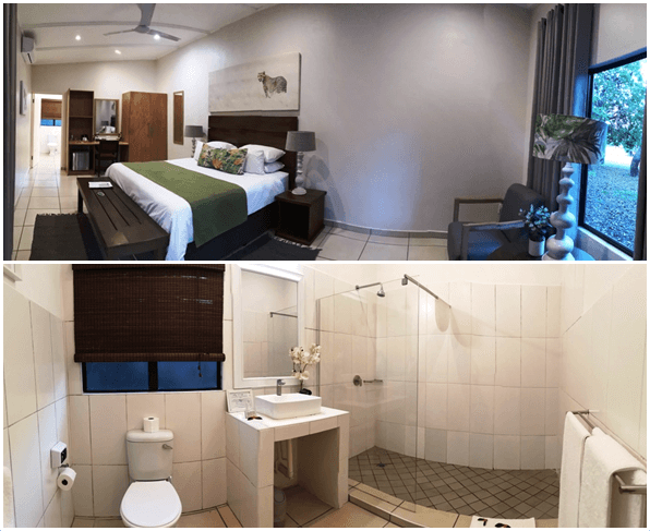 Emdoneni Lodge Bedroom and Bathroom