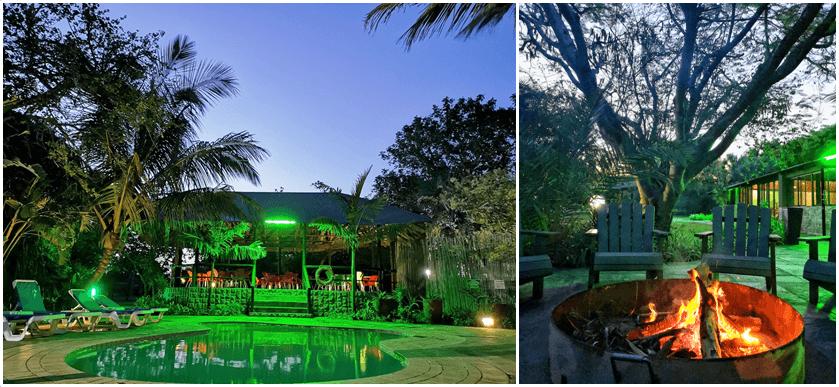 Emdoneni Lodge Pool and Bonfire